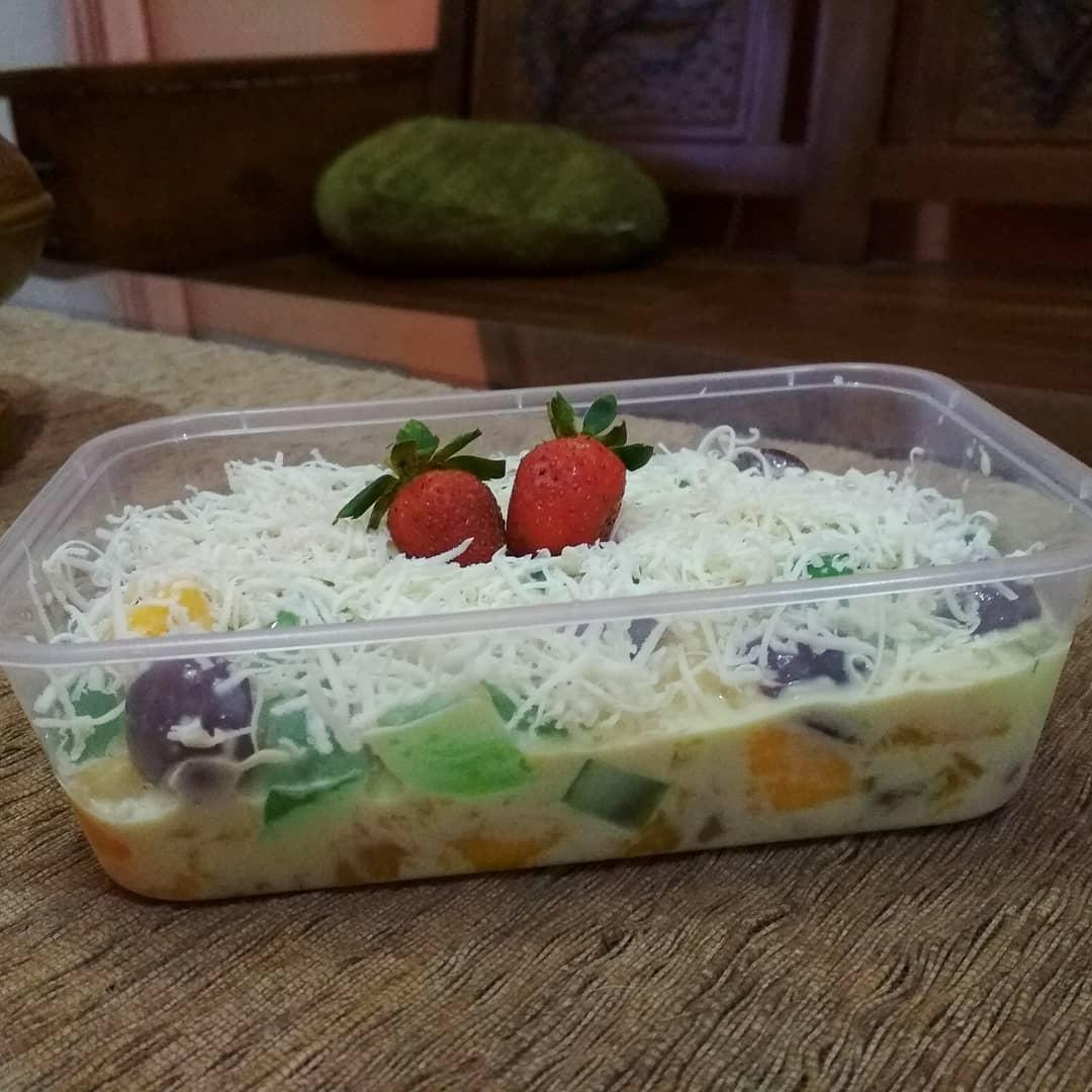 Cara Membuat Salad Buah Keju