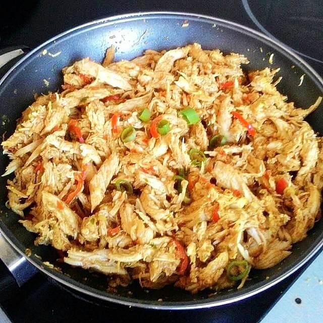 Cara Masak Ayam Suwir Pedas Bali