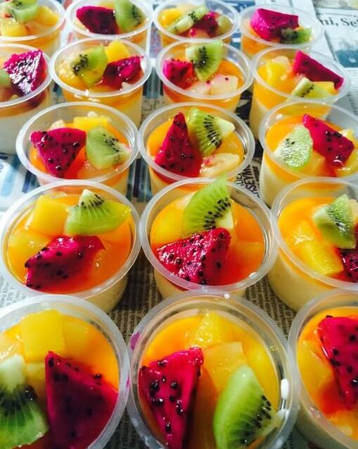Resep Puding Sutra Buah Sirup Jeruk