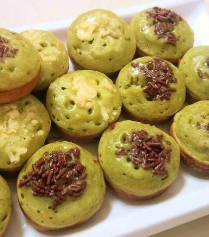 Resep Kue Cubit Green Tea Matcha Coklat Keju Empuk