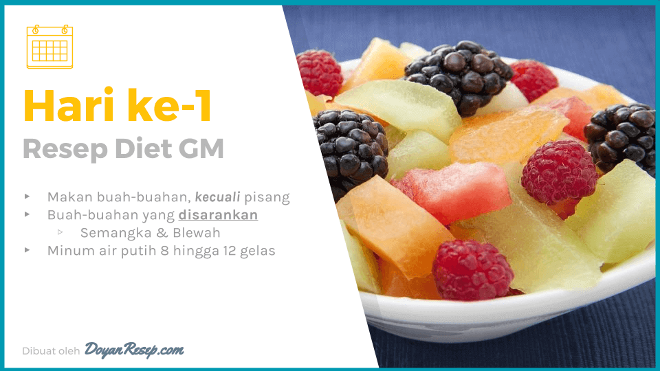 resep diet gm hari ke 1