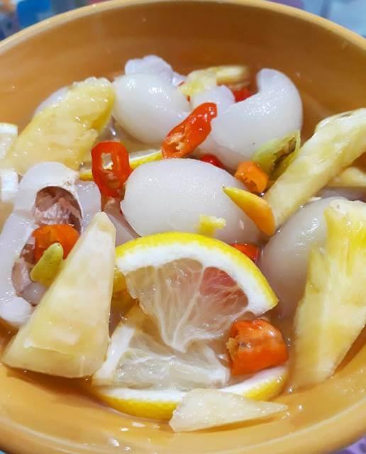 resep asinan rambutan nanas