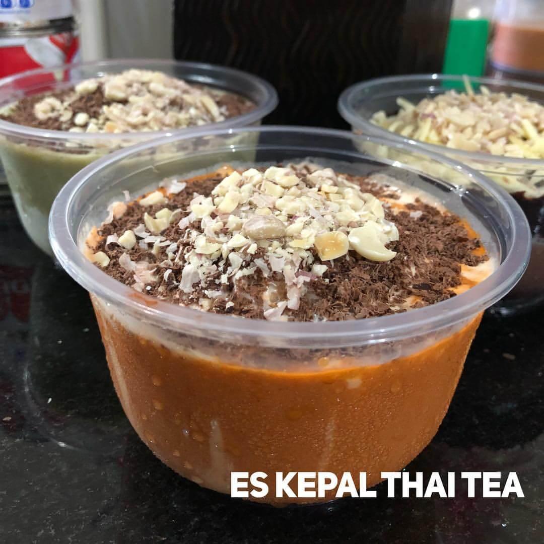 resep es kepal milo thai tea