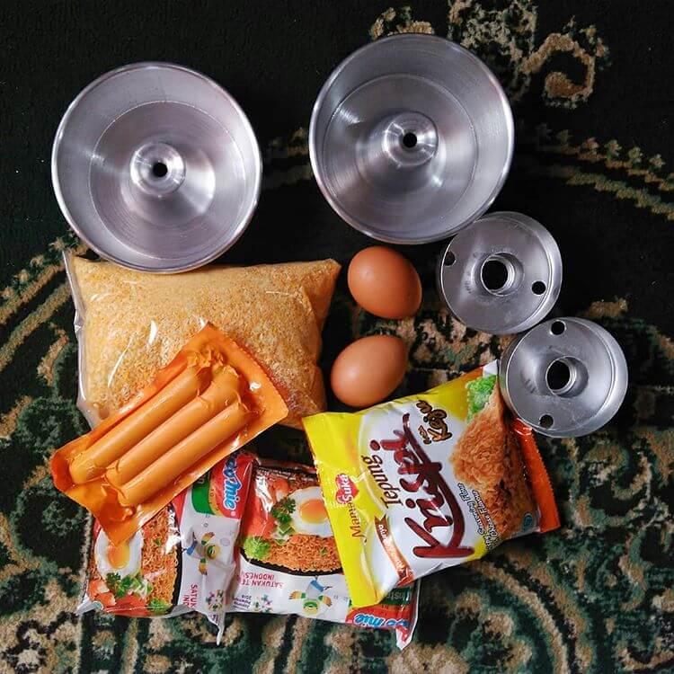 resep donat indomie goreng