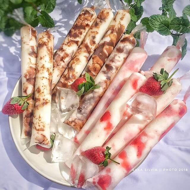 resep es choki choki strawberry