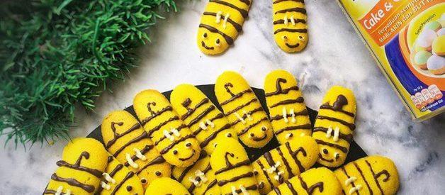 Resep Kue Lidah Kucing Bentuk Lebah Yang Enak, Wangi dan Renyah