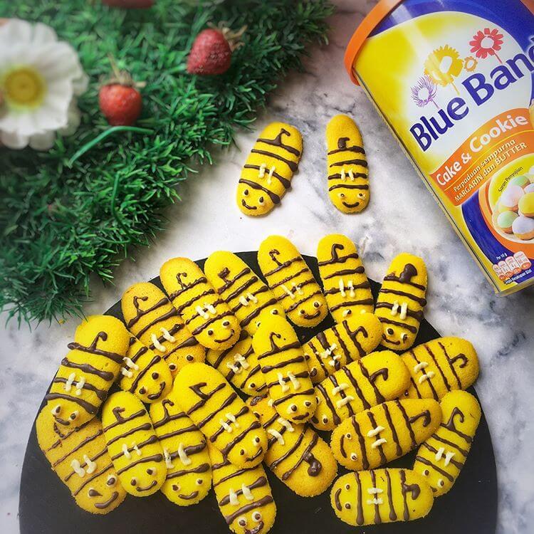 resep lidah kucing bentuk lebah