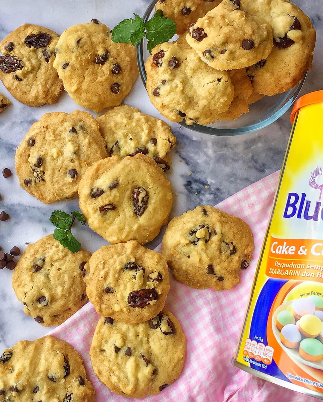 resep vanila chocohips cookies