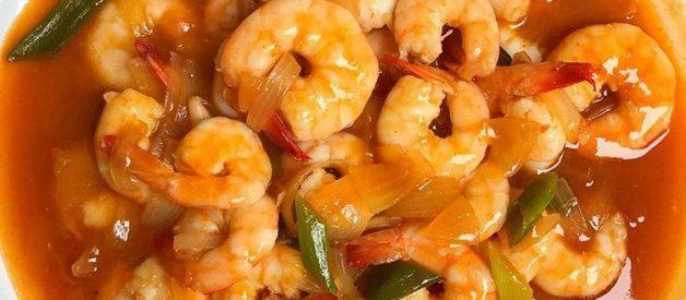 Resep Udang Pedas Saus Tiram ala Restoran Chinese Food