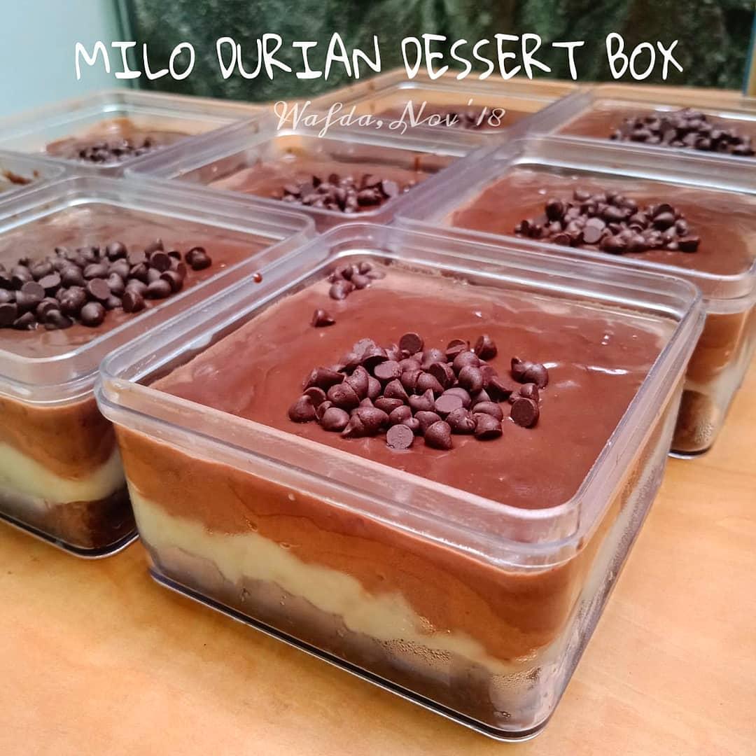 coklat milo durian dessert box