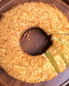 Cara Membuat Cake Tape Keju Panggang Mengembang dan Anti Gagal