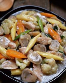 Cara Membuat Ayam Cah Jamur