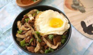 resep gyudon beef bowl