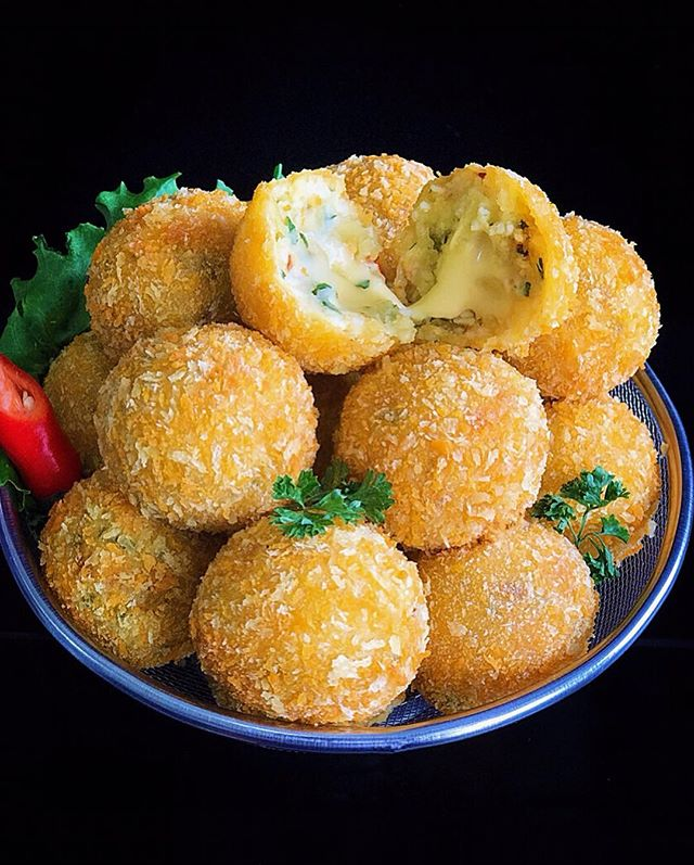 resep potato cheese balls