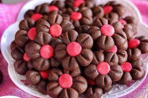resep choco flowers cookies
