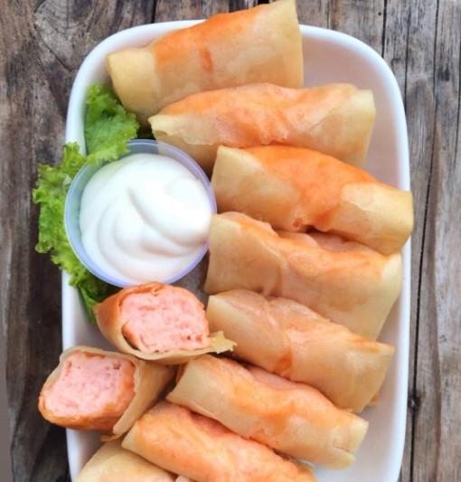 resep lumpia udang mayones
