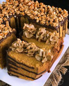 Resep Mocca Nougat Chiffon Cake Kekinian ala Cake Mahal