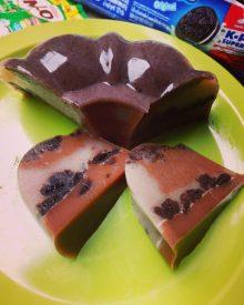 Cara membuat Resep Puding Oreo Coklat Milo