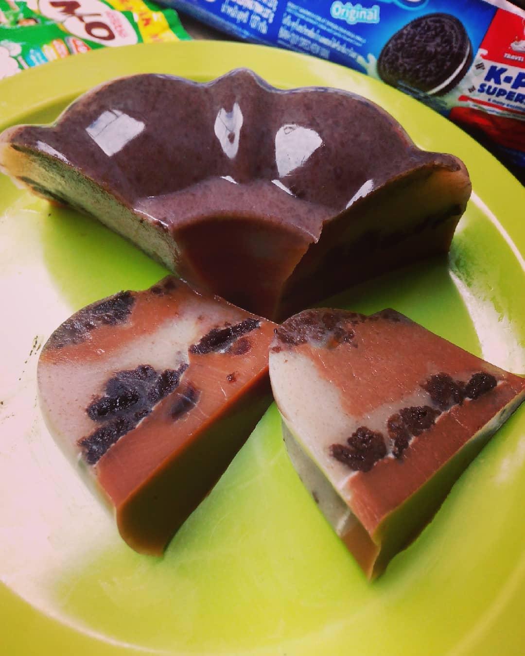 Resep Puding Oreo Coklat Milo