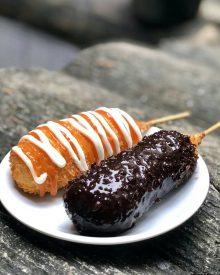 Cara Membuat Corndog Coklat Mozarella (Corndog Choco Mozza) ala Korea