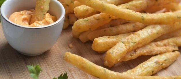 Resep Long Potato Fries Variasi Stick Kentang Goreng Kekinian Ala Mall