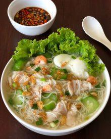 Resep Misoa Kuah Ayam Udang Yang Gurih Cocok Untuk Nyuapin Si Kecil Yang Susah Makan