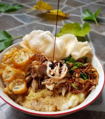 Resep Bubur Ayam Kampung Kuah Kuning Khas Jakarta Yang Dimasak Dengan Rice Cooker