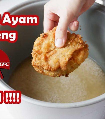 Resep Nasi Ayam KFC Viral (KFC Japanese Rice) Yang Gurih dan Mudah Dibuat Dengan Rice Cooker