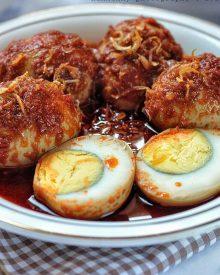 Resep Telur Bumbu Bali Tidak Pedas Yang Manis Gurih Cocok Untuk Menu Makan Selingan Sehari-hari