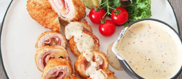 Resep Chicken Cordon Bleu (Ayam Gulung Crispy Keju) ala Resto