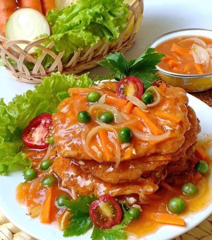 Resep Fuyunghai Ayam Udang Saus Asam Manis Spesial ala Chinese Food
